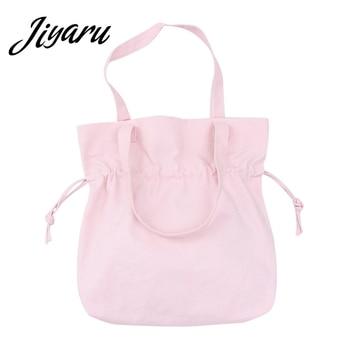 3b2672dc916c Корейская хозяйственная сумка из парусины многоразовая Портативная Складная  Лампа сумка для покупок, большая сумка-тоут женские Эко хозяй.