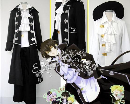 Pandora Hearts Gilbert Nightray uniform cosplay costume unisex