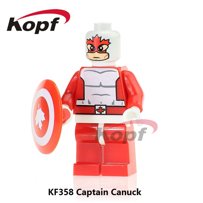 KF358 Super Heroes Captain Canuck Guardian Alpha Flight Classic Bricks Action Building Blocks Learning Model Children Gift Toys