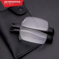 MINI Design Reading Glasses Men Women Folding Small Glasses Frame Black Metal Glasses With Original Pouch