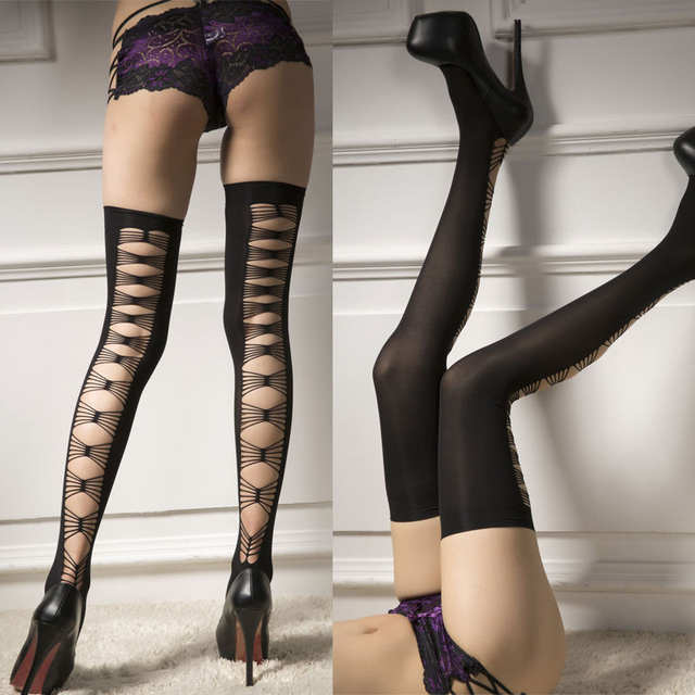 f2ee6e9c889 Online Shop Sexy Lady Women Black Thick Lace Top Bow Opaque Thigh High  Stockings Long Over Knee High Sockings