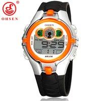 OHSEN Fashion Digital Boys Kids Children Sports Watch Alarm Date Day Chronograph 7 Colors LED Back