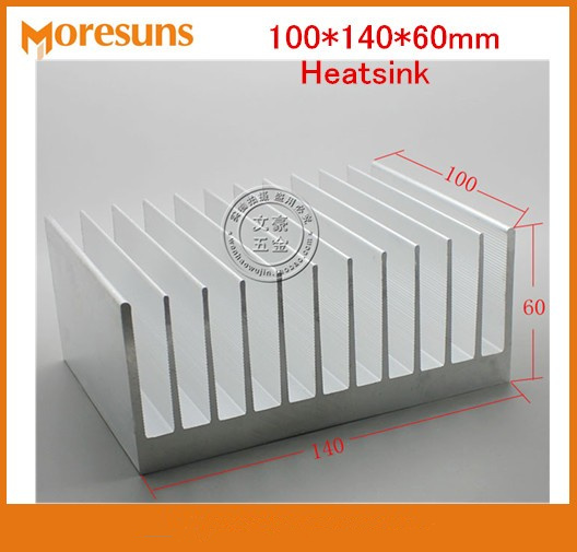 Fast Free Ship High Power Radiator 100*140*60mm Heat Sink Chip for IC LED Power Transistor synthetic graphite cooling film paste 300mm 300mm 0 025mm high thermal conductivity heat sink flat cpu phone led memory router