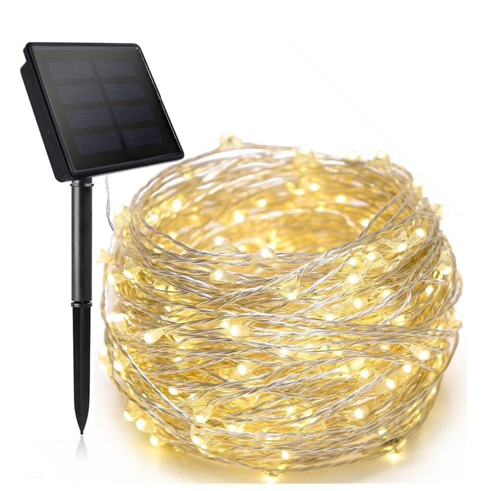 8 mode LED Outdoor Solar Lamps LEDs solar String Lights Fairy Holiday Christmas Party Garlands Solar Garden Waterproof Lights 50 100 200 led outdoor solar lamps led string lights fairy holiday christmas party garlands solar garden waterproof lights