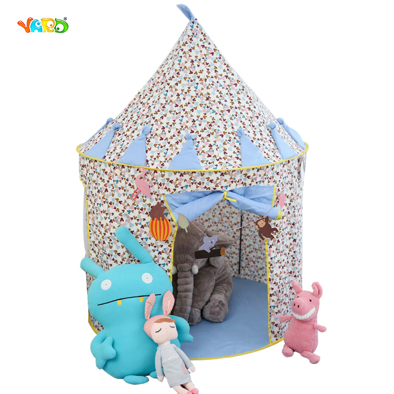 Girl Princess Playhouse Kids Tents Cartoon Foldable Toy Tent Indoor Outdoor Baby Play Game Room Best Gift for Children