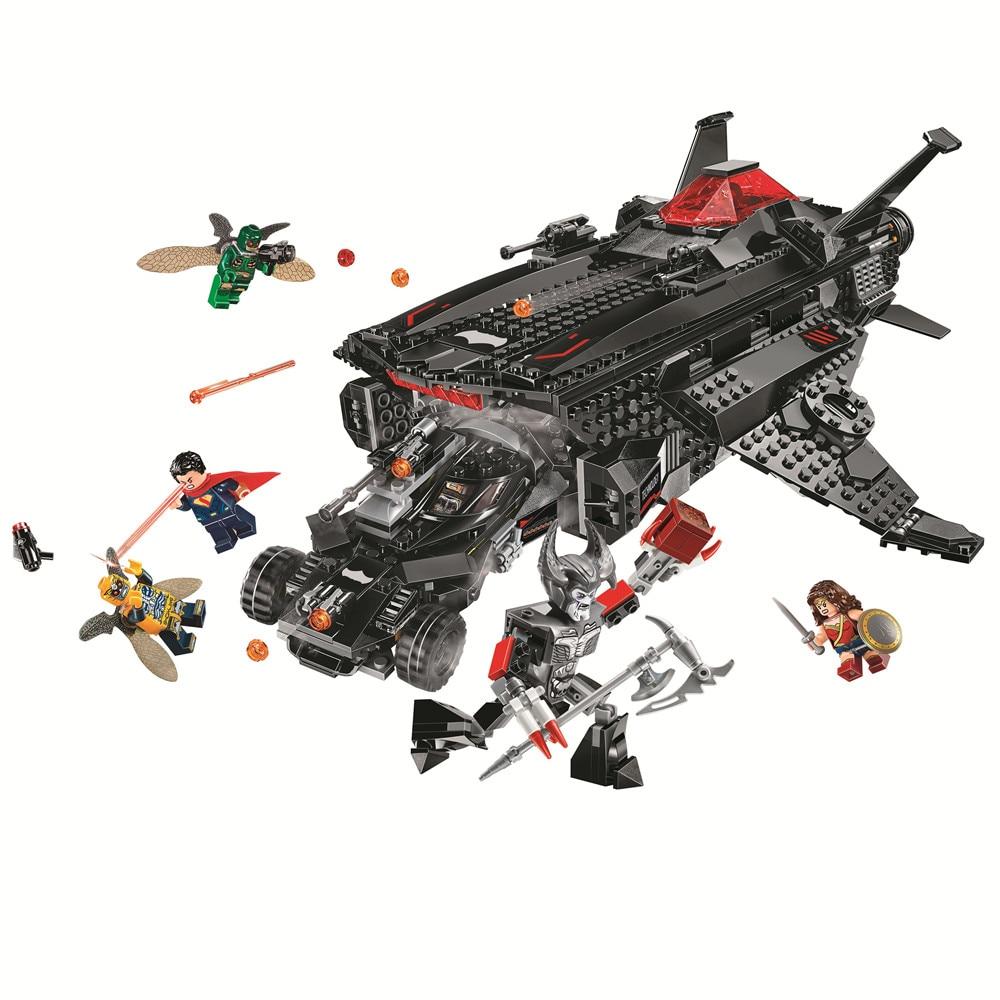 BELA Super Heroes Flying Fox Batmobile Airlift Attack Building Blocks Set Bricks Movie Classic Kids Toys Marvel Compatible Legoe все цены