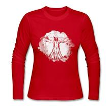 Vitruvian Man Long Sleeve Ladies T Shirt