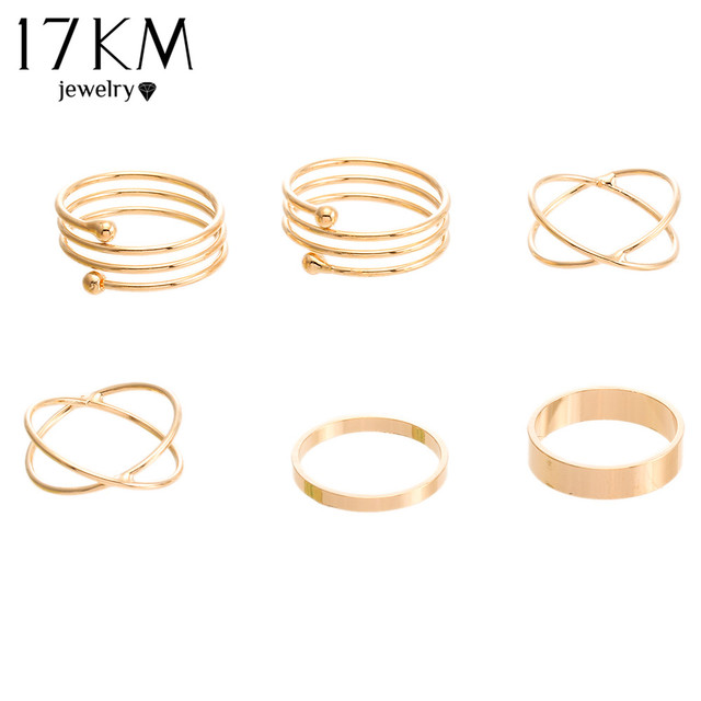 Women's 6 Piece Ring Set