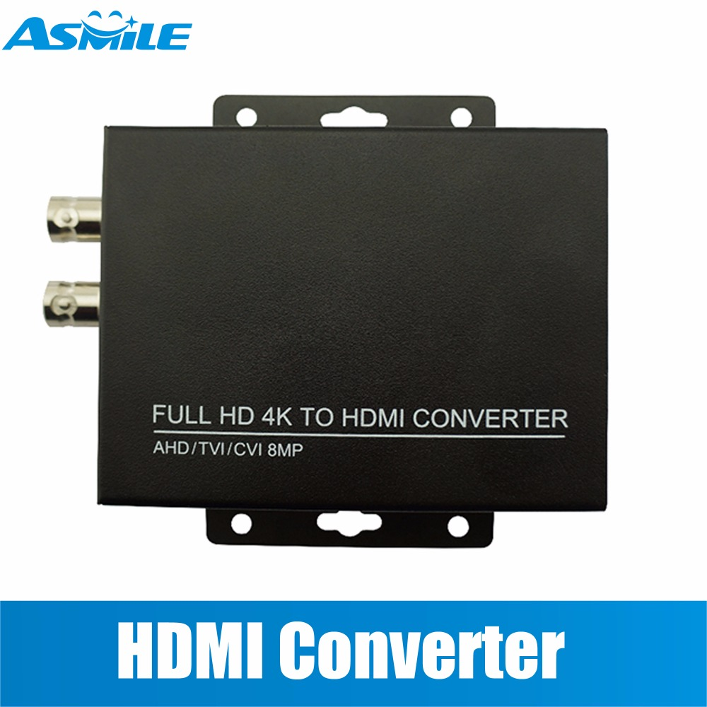 HD 4K CVI/TVI/AHD+CVBS To HDMI Converter  Connect HD Monitor, HD Coaxial Output And HDMI Input Display At The Same Time