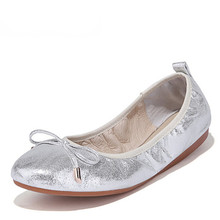 Large size 34-39 New Summer fashion designer Style Women's Slip-On foldable ballet Shoes Boat Flats Casual  comfortable shoes