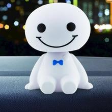 Car Ornament Dashboard Ornaments Cute Shaking Head Robot Doll Auto Interior Dashboard Decoration Accessories Toys Gift