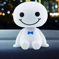 Ornamento do carro dashboard ornamentos bonito cabeça de agitação robô boneca auto interior dashboard decoração acessórios brinquedos presente|Ornamentos|Automóveis e motos -