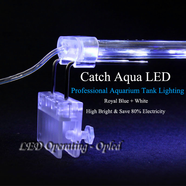 high class Crystal led aquarium light,Royal Blue aquarium lamp double catch tank wall for fish tank light, aquarium led lighting
