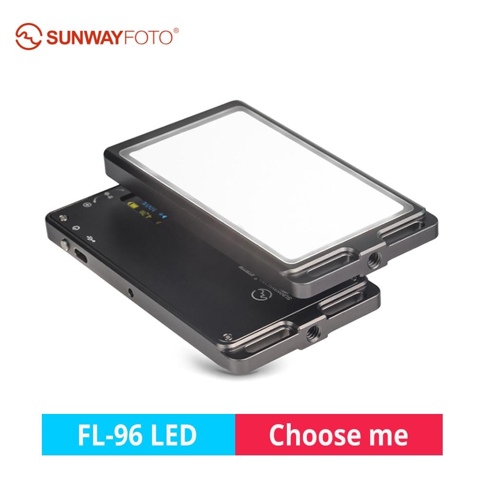 FL-96 Ultra Mini LED Vidéo Lumière Bi-Couleur De Remplissage Lumière 96 ampoules DSLR Caméra LED Photographie Éclairage pour Canon nikon Sony