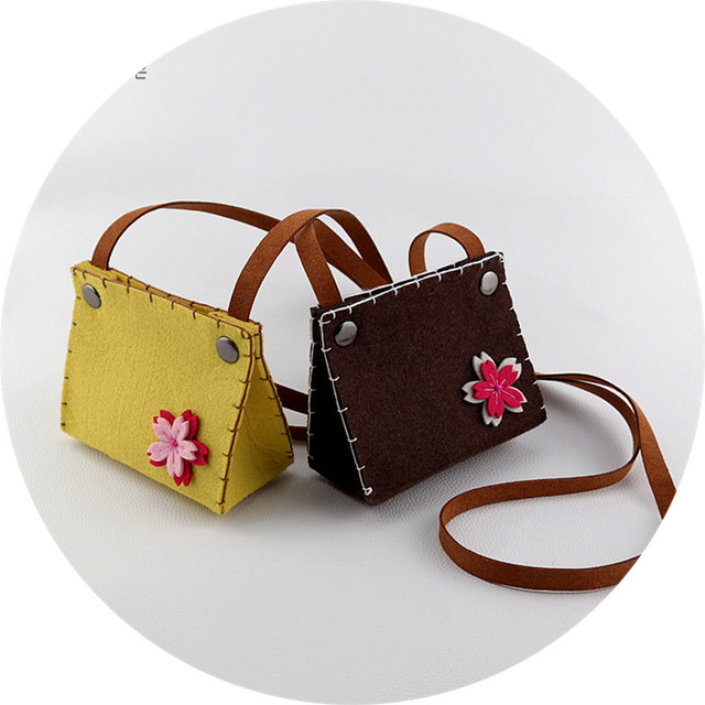 Monsisy 5pcs Kawaii Kid Handbag Shoulder Bag Cute Baby Coin Purse Children Wallet Toddler Messenger