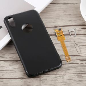 Image 4 - Kumishi 2 en 1 double adaptateur de carte SIM + étui TPU avec plateau de carte SIM/Pin de carte SIM pour iPhone X, double carte simple en veille