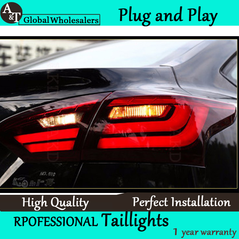 A&T Car Styling for Ford Focus Taillights BMW Design 2012-2014 Focus LED Tail Light Rear Lamp DRL+Brake+Park+Signal