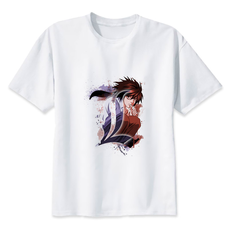 death note  t shirt men Summer print T Shirt boy short sleeve with white color Fashion Top Tees MR1314
