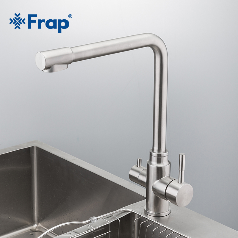 Frap New Waterfilter Taps Kitchen Faucets Stainless Steel Mixer