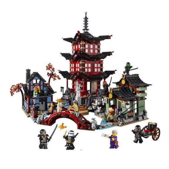 Blemay Blocks Ninjago Temple of Airjitzu NinjagoesBlocks Set Compatible with legoe Toys for Kids 10427