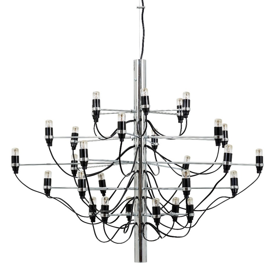 Gold Chrome Gino Sarfatti Chandelier 18 30 50 Bulbs Modern Home Decoration Lighting Living Room Luminaire 100 240v In Chandeliers From Lights