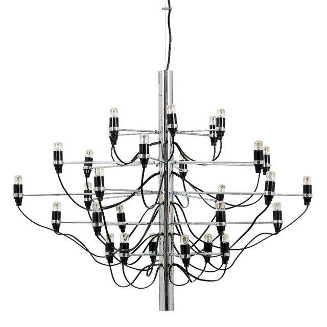 Gold Chrome Gino Sarfatti Chandelier 18 30 50 Bulbs Modern Home Decoration Lighting
