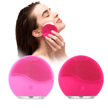 2019 Electric Face Cleanser Vibrate Pore Silicone Cleansing Brush Massager Facial Vibration Skin Care Massage Tools CO867 недорого