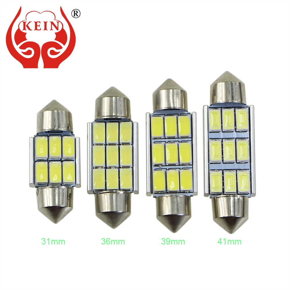 KEIN C3W C5W C10W SV8.5 Festoon LED Car CANBUS License Plate lights Reading Dome Lamp 31mm 36mm 39mm 41mm door Interior Bulb 2pcs festoon led 36mm 39mm 41mm canbus auto led lamp 12v festoon dome light led car dome reading lights c5w led canbus 36mm 39mm