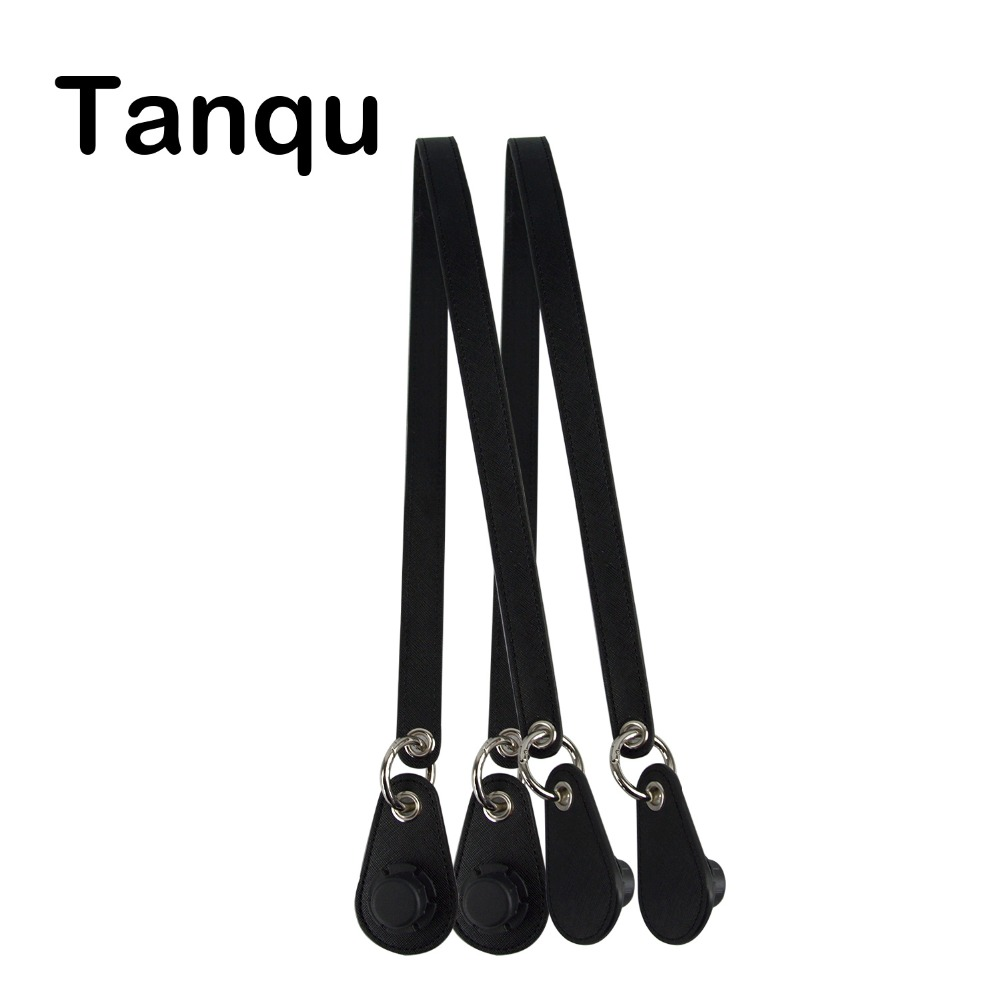 Tanqu1 Pair Concise Ring Leather Belt Handle Metal Ring Drops For Classic Mini Obag Basket City Chic Women Handbag O Bag