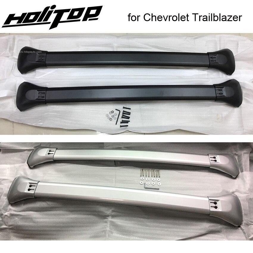 Galerie de toit bagages rail horizontal croix bar pour Chevrolet Trailblazer. meilleur alliage d'aluminium, ISO9001 qualité. asie livraison gratuite.