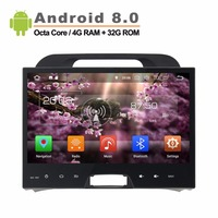 10.1 inch 1024*600 Octa Core Android 8.0 Fit KIA Sportage 2010 2012 Car GPS Navigation Video Radio Player without canbus