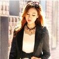 Negro goth collar colgante borla/kpop accesorios elegantes de la boda al por mayor/gros collier femme/sin cuello/colar/collana/bijoux