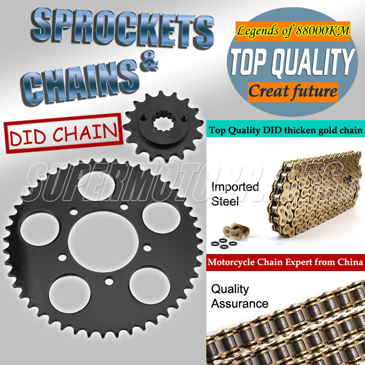 1 Set Front and Rear Sprocket Chain & chain For Honda Steed 400 600 Motorcycle Accessories sprocket chain 1 set front and rear sprocket chain