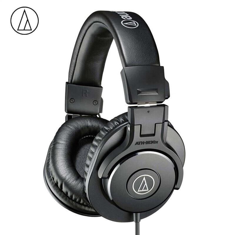 Original Audio-Technica ATH-M30x Professional Monitor Headphones Closed-back Dynamic Over-ear Headsets HiFi Foldable Earphones