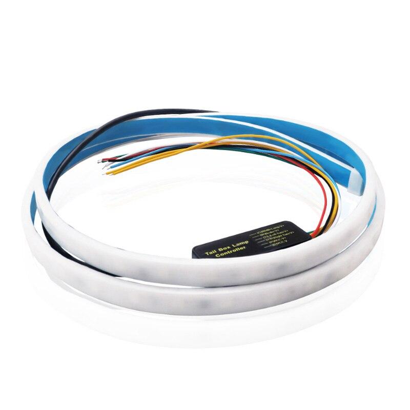 120 150cm Turn Signal Flow led trunk Strip light Taillight luggage 12V Car Rear Lamp Dynamic Streamer Floating RGB strip
