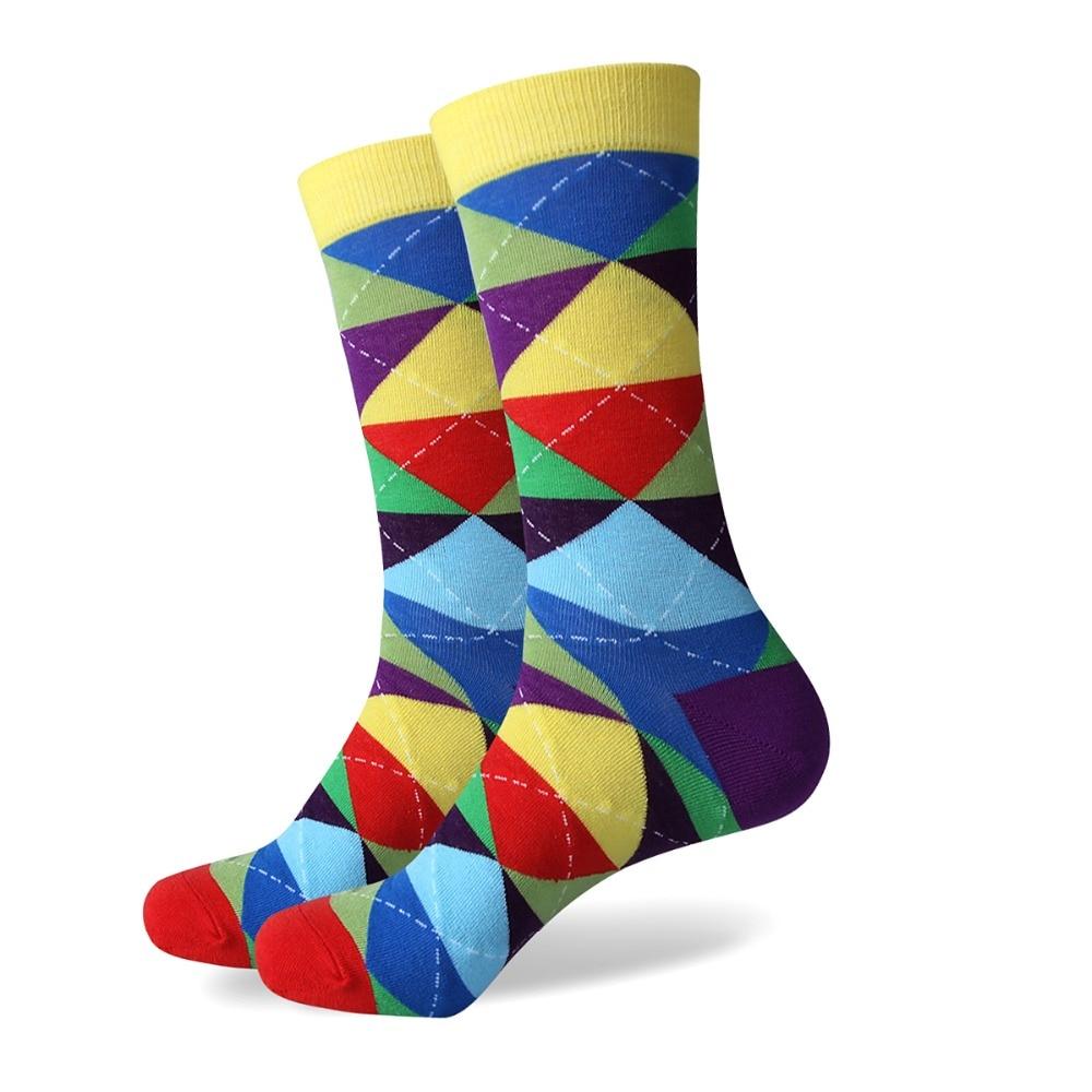 Compra hombres's calcetines de rombos online al por mayor