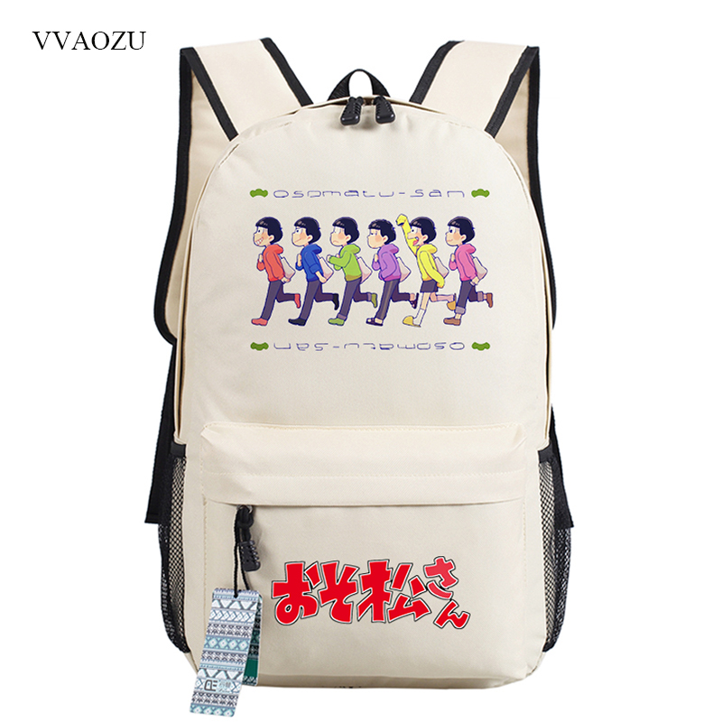Osomatsu San Backpack Women <font><b>Canvas</b></font> Backpack Male <font><b>Mochila</b></font> <font><b>Escolar</b></font> Girls Laptop Backpacks School <font><b>Bags</b></font> Rucksack for Teenagers image