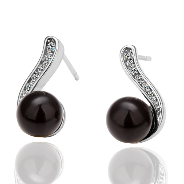 Hot Black Gold Color Earrings For Women Vintage Pearl Jewelry Online Ping India