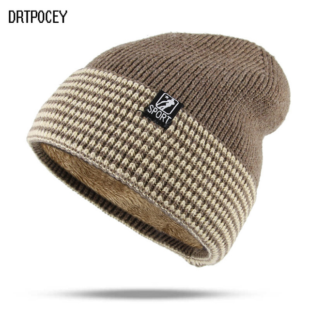 New Winter SPORT Hat Skullies Beanies Hat Winter Beanies For Men Women Wool  Caps Fashion Warm e300f74847ce