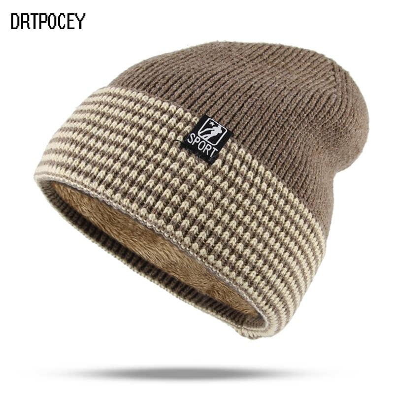 New Winter SPORT Hat   Skullies     Beanies   Hat Winter   Beanies   For Men Women Wool Caps Fashion Warm Gorras Bonnet Knitted   Beanie   Hats
