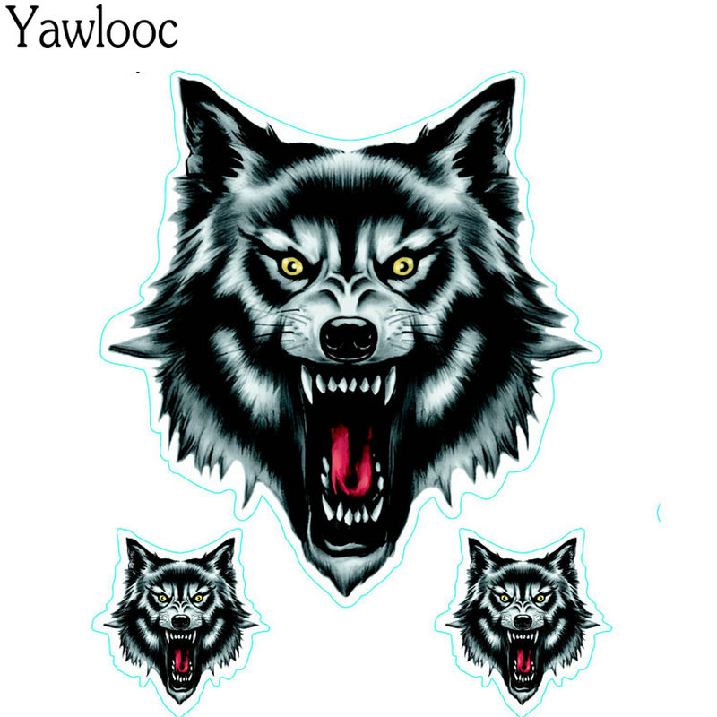 Vinyl Wolf Head Decals Skull Head Fire Flame Funny Eagle Clown Sticker For Motorcycle Car Door Stickers Truck Helmet Decor Zg1 To Help Digest Greasy Food