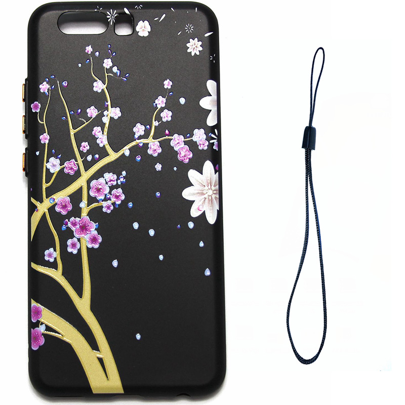 3D Relief flower silicone  case huawei p10 (9)