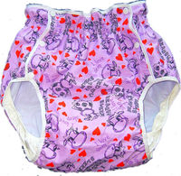 Free Shipping FUUBUU2215-082 octopus adult baby diaper baby plastic pants for babies adult baby romper adult diaper abdl