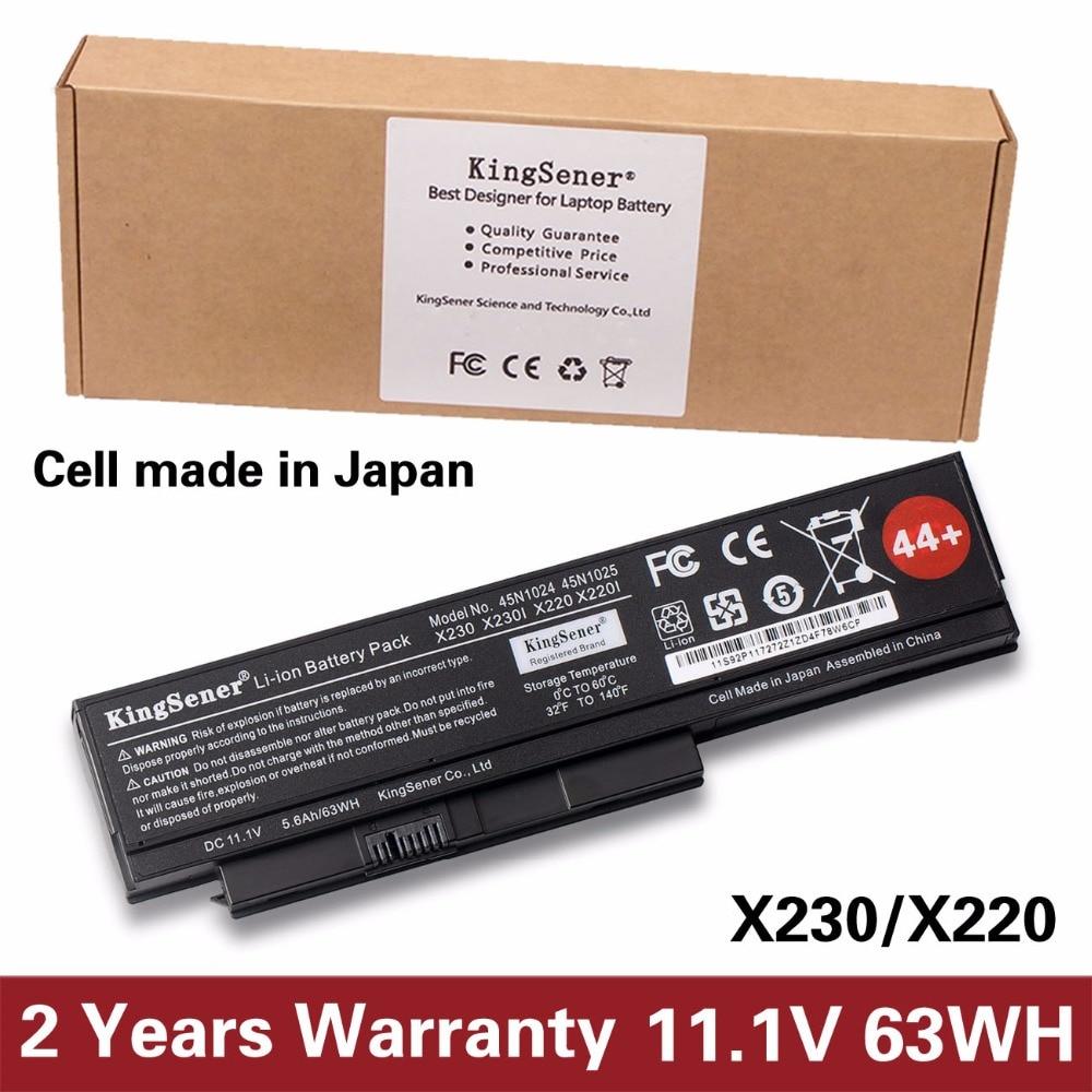 KingSener Japanese Cell  45N1025 Laptop Battery For Lenovo Thinkpad X230 X230i X220 X220I X220S 45N1024 45N1022 45N1029 45N1033 kingsener japanese cell new 191yn laptop battery for dell alienware 15 r1 15 r2 191yn 14 8v 92wh free 2 years warranty