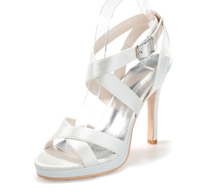 Creativesugar Woman Sandals Satin Summer Dress Shoes High Heels Party Prom Purple Silver Grey Ivory Lady
