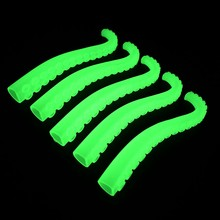 12 PCS Lifelike Environmental Glow In The Dark Octopus Tentacles Finger Toys Funny Toys For Kids Funny Toy(China)
