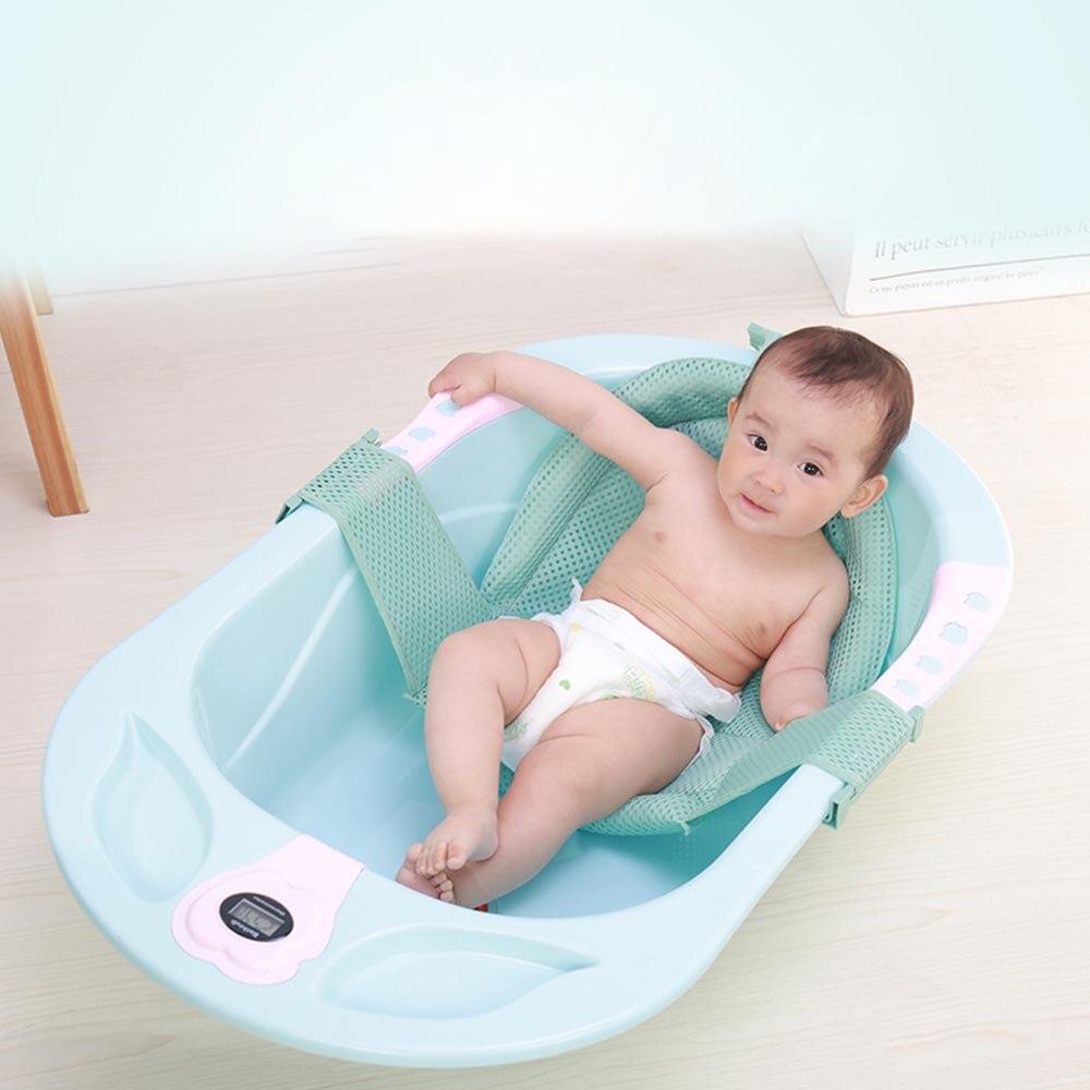 General Purpose Cross Anti-slip Sit Infant Adjustable Tub Non-slip Shower Net Baby Bath Mesh Newborn Bathtub Seat Cushion