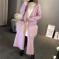 New and easy winter and medium mink sweater coat, beach wool bag free shipping S18108