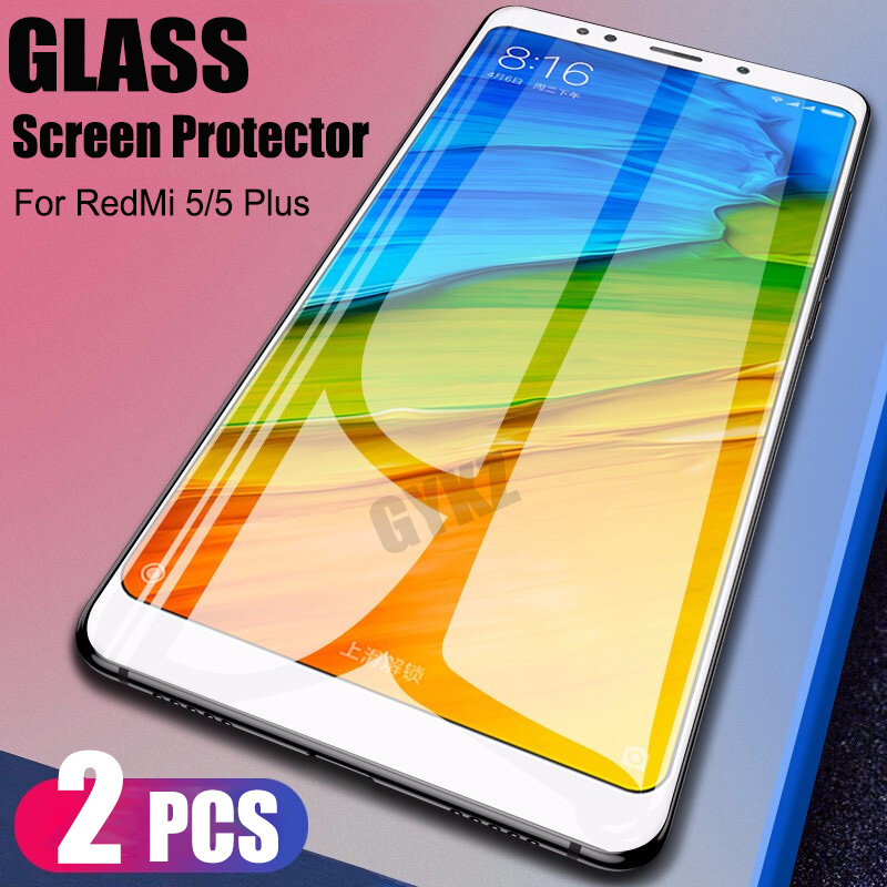 GYKZ Full Screen Tempered Glass For Xiaomi Redmi 5 5Plus Screen Protector For Xiaomi Redmi 5 5Plus Phone Glass For Redmi 5 Plus