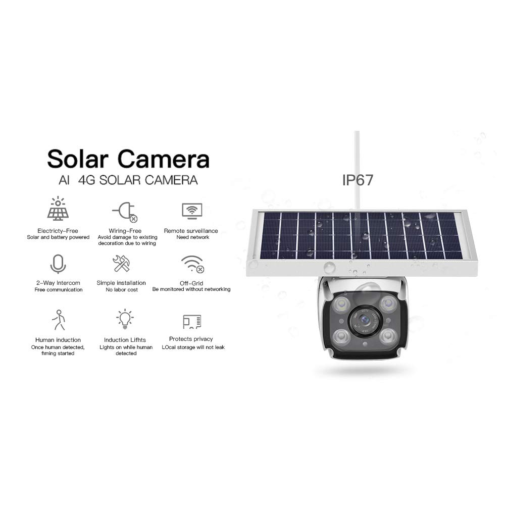 Image 2 - SmartYIBA 1080P 2.0M Wireless Solar Battery Power Waterproof Outdoor Surveillance Security CCTV IP Camera 4G SIM Video Recorder-in Surveillance Cameras from Security & Protection